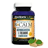 All Natural Anxiety Relief, Stress Support with Ashwagandha, L-Theanine and Much More | Help Say Goodbye to Anxiety and Stress | B-Calm Daytime/Nighttime 24 Hour Support | 30 Servings
