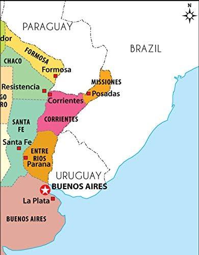 Argentina mapa político – LAMINADO (36