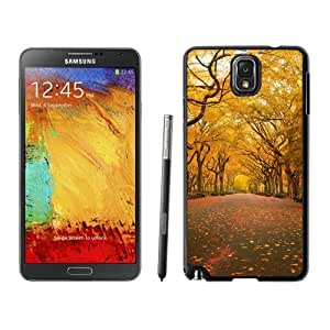 New Beautiful Custom Designed Cover Case For Samsung Galaxy Note 3 N900A N900V N900P N900T With Yellow Trees Phone Case
