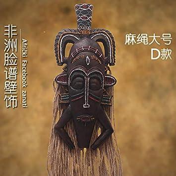 Powzz Ornament Decorativa Interior Máscara De Artesanía Africana