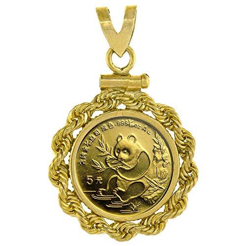 Screw Top Rope (14k Gold 1/20 Gold Panda Bezel Rope 14mm coin Screw Top)