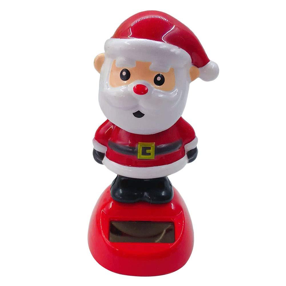 Demarkt 1PCS Solar Christmas Doll Shaking Head Dancing Car Decoration Santa Claus/Angel / Elk Desktop Window Car Decoration
