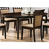 Dinner Room Set Coaster Contemporary Oval Dining Table, Cappuccino Finish