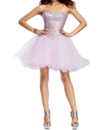 Kaitaijidian Women\'s Tulle Beading Sweetheart Ball Gown Homecoming ...