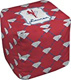 Red Diamond Dancers Cube Pouf Ottoman - 13'' (Personalized)
