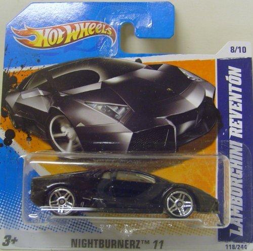 Hot Wheels Lamborghini Reventon Black Nightburnerz 2011 118/244 die-cast short card