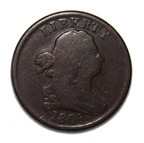 1808 Draped Bust Half-Cent 50¢ Fine