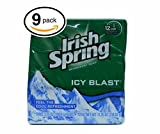 Irish Spring Bar Soap (9 Bars, 3.75oz Each Bar, Icey Blast)