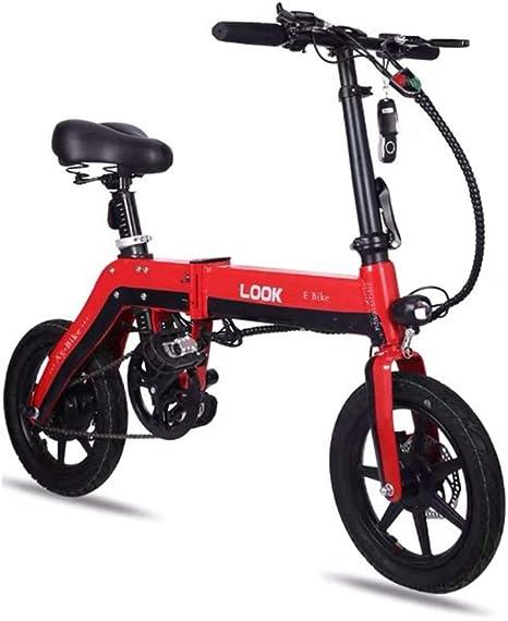 KUANDARMX Seguro Bicicleta Electrica Plegables, 250W Motor Bicicleta Plegable 25 km/h, Bici Electricas Adulto, Batería 36V 6.0Ah, Asiento Ajustable, sin Pedales Presente, B: Amazon.es: Deportes y aire libre