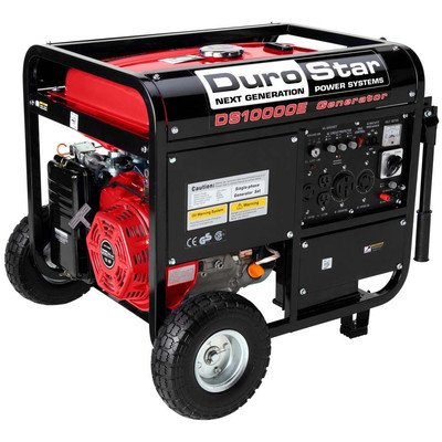 Durostar DS10000E, 8000 Running Watts/10000 Starting Watts, Gas Powered Portable Generator