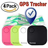 Xenzy 4 Pack Smart GPS Tracker Wireless Bluetooth Key Finder Mini Item Locator Key Anti Lost Alarm for Keychain Pet Dog Cat Wallet Chip Phone Luggage Finder Device Selfie Remote Shutter