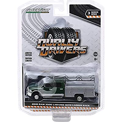 Greenlight 46030-C Dually Drivers Series 3-2020 Ram 3500 Dually Service Bed with Ladder Rack - Aluminum Service Body 1:64 Scale: Toys & Games