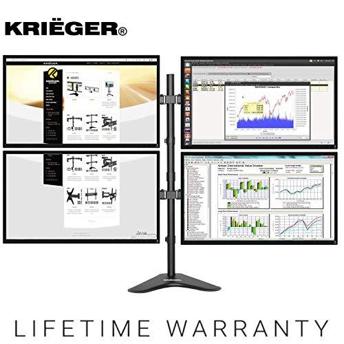 KRIËGER KL4327N • Quad Monitor Mount Full Motion Articulating Arm...
