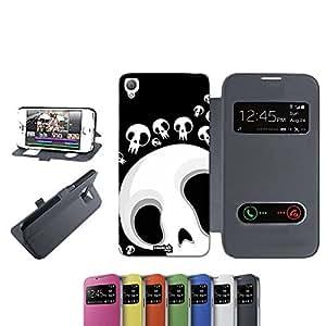 caselabdesigns Flip Carcasa Funda Lluvia calaveras Skull para Sony Xperia Z3D6683negro–Funda protectora plegable de negro