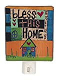 Painted Peace Night-Light – Bless this Home For Sale