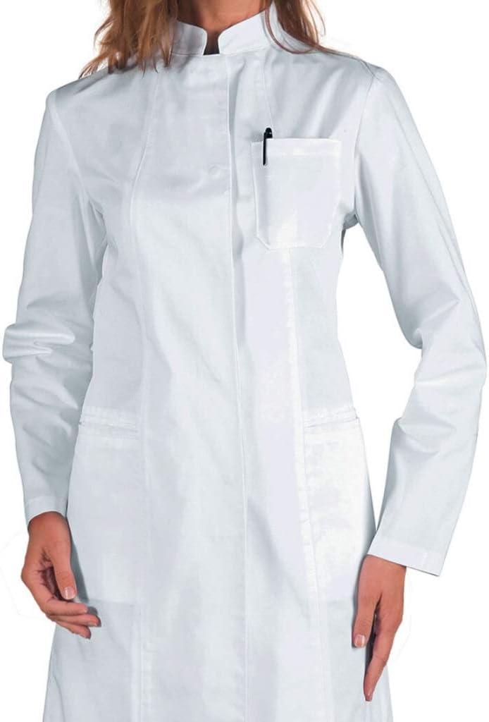 S Manica Lunga Isacco Camice Ponza Bianco 100/% Cotone Bianco