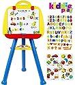 Kiddie Play 直立アートイーゼル おもちゃ 子供用 磁石の文字と数字と記号付き (115個セット) (英語版)