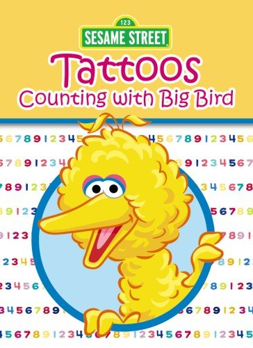 Sesame Street Counting With Big Bird Tattoos (Sesame Street Tattoos) -