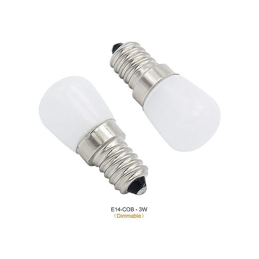 E14 3 W regulable refrigerador iluminación LED bombilla AC 220 V ...
