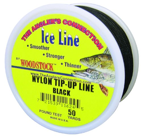 2 Spools NEW Woodstock Tip-Up Line Black 20# 25Yd Vinyl Coated VTU-25-20-B