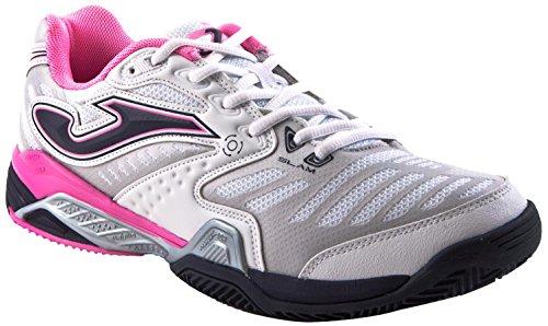 JOMA Slam Lady - Zapatillas para mujer Blanco / Rosa 502