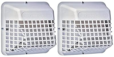 """Deflecto Universal Bird Guard, Fits 3"""" to 4"""" Vents, White (UBGWL) from Deflecto"""