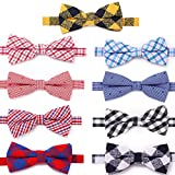 Freewindo Dog Bow Ties - 9pcs Dog Bows Adjustable Cat Collar Bows - Grooming Accessories for Small Medium Large Dogs and Adult Cats