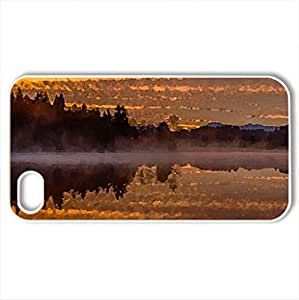 Beautiful Lake Kirchsee, Bavaria, Germany - Case Cover for iPhone 4 and 4s (Lakes Series, Watercolor style, White)