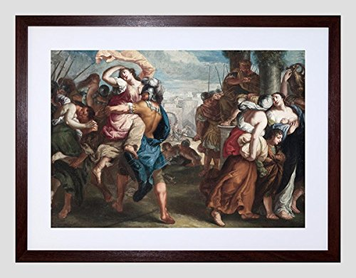 Wee Blue Coo Painting Van THULDEN Rape of The Sabine Women Small Framed Art Print F97X13119 (The Rape Of The Sabine Women Painting)