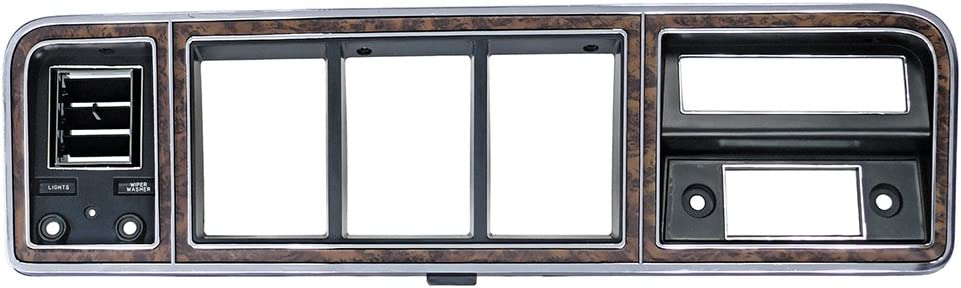 D8TZ-10044D70D Instrument Cluster Finish Panel Woodgrain Fits 1973-79 F-100 F-250 F-350 Pickup 1978-79 Bronco with A//C