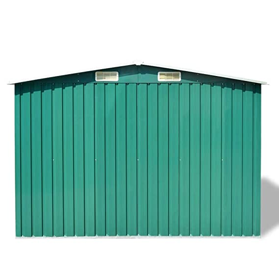 Zora Walter Caseta de jardín de Metal 257x205x178 cm Estructuras de Exteriores Cobertizos, casetas y cabañas: Amazon.es: Jardín