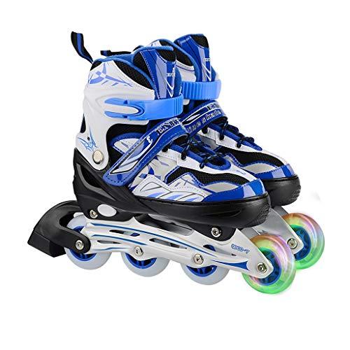 - LDDYC Roller Skates Inline Adjustable Children Adult Skates Men and Women Skates Flash Skates Blue (Size : S(32-35))