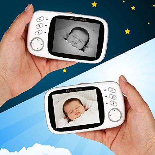 "BabyGrowth Video Baby Monitor with Night Vision, Two Way Talk,Temperature Monitoring&Lullabies [3.2"" Display]"