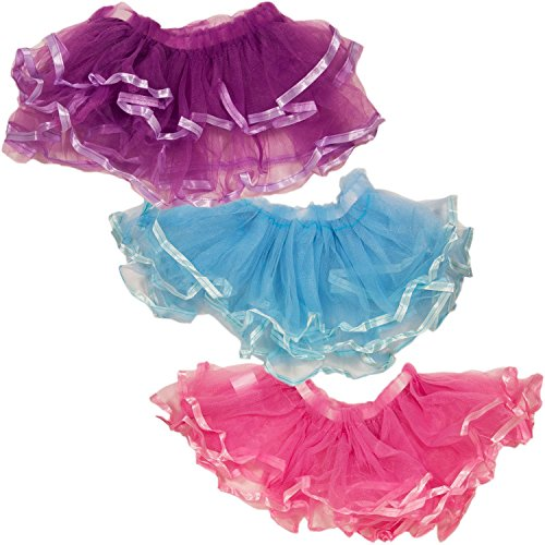 Tutus for Girls (Set of 3 -- Dress Up Tutu Costumes -- Pink, Purple and Blue) (Little Girls Dress Up)