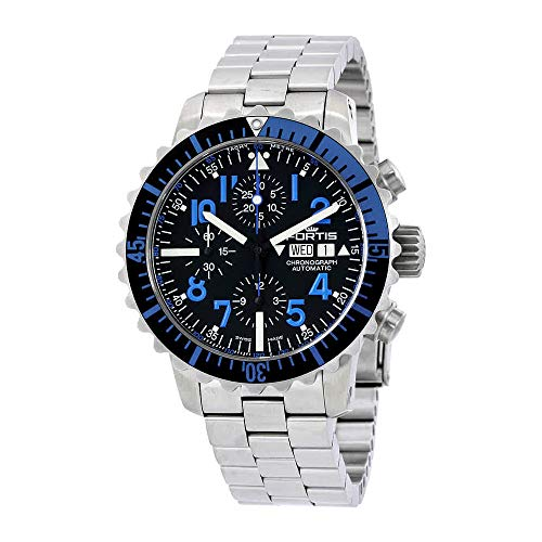 Fortis Marinemaster Chronograph Black Dial Men's Watch 671.15.45 M