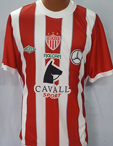 fan products of New Necaxa Home Red & White Replica Jersey Adult Small