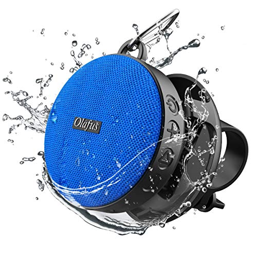 Olafus Bluetooth Bike Speaker with Detachable Bicycle Mount, IPX7 Waterproof, Shockproof Dustproof for Outdoor Riding, Bluetooth 5.0 HD Sound, 10H Playtime, Built-in Mic