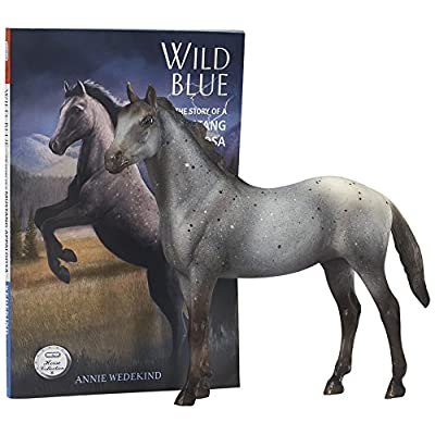 Breyer Classics Wild Blue: Book and Horse Toy Set (1:12 Scale): Toys & Games