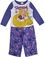 Disney Little Girls Rapunzel Image Print 2 Pc Pajama Set 4T Purple