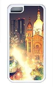 iPhone 5c case, Cute Santiago Iglesia Del Sacramento Noche iPhone 5c Cover, iPhone 5c Cases, Soft Whtie iPhone 5c Covers