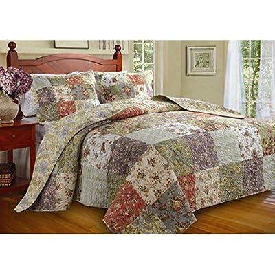 Greenland Home Blooming Prairie Full 3-Piece Bedspread Set