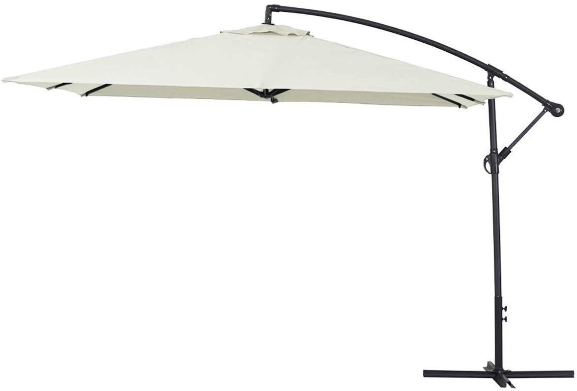 Parasol de jardín en Aluminio Ilios 3 - Cuadrada - 3 x 3 m - Crudo: Amazon.es: Jardín