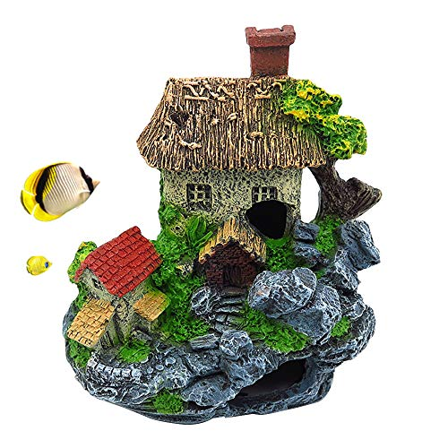 PINVNBY Fish Hideout House Betta Cave Aquarium Rocks Landscape Decorations Resin Hollow Tree Trunk Ornament for The Underwater Environment, Aquariums, Fish Tank, Gardens