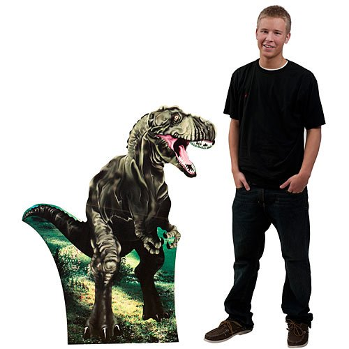 3 ft. 10 in. Tyrannosaurus Rex T-rex Dinosaur Standee Standup Photo Booth Prop Background Backdrop Party Decoration Decor Scene Setter Cardboard -