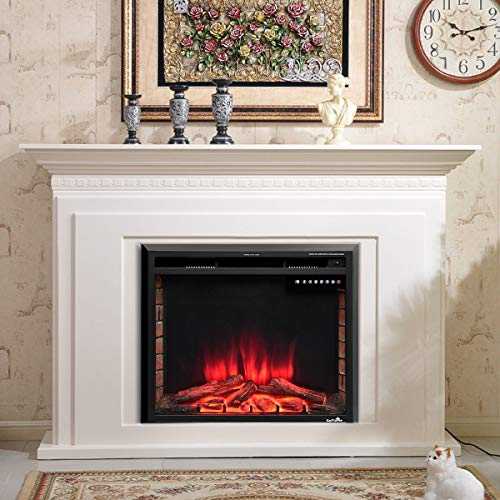 Cheap Caraya Fireplace Electric Embedded Realistic Flame Present Customized Time Setting Double Control Available Perfect Decoration House 30 Inch Black Friday & Cyber Monday 2019