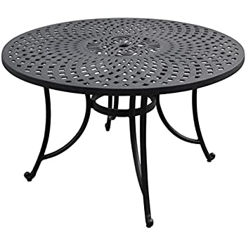 Amazoncom Crosley Furniture Sedona Inch SolidCast Aluminum - 48 inch outdoor table