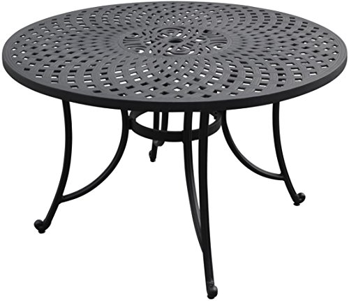 Crosley Furniture Sedona 48-inch Solid-Cast Aluminum Outdoor Dining Table - Black ()