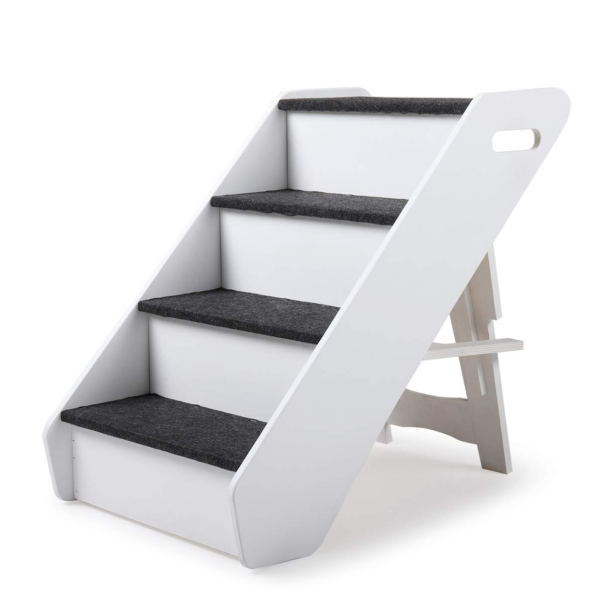 LAZYMOON Dog Steps 4 Steps for High Bed Pet Stairs Small Dogs Cats Ramp Ladder