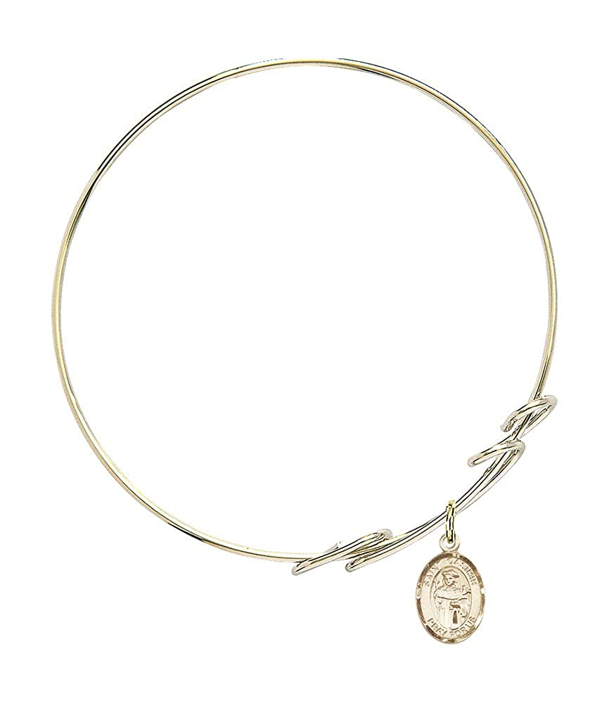 Casimir Of Poland Charm On A 8 Inch Round Double Loop Bangle Bracelet St