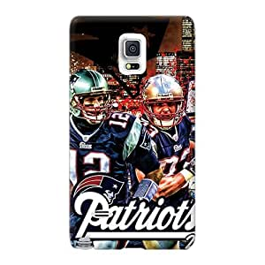 Shock Absorption Hard Phone Cover For Samsung Galaxy Note 4 With Customized Vivid New England Patriots Skin KennethKaczmarek